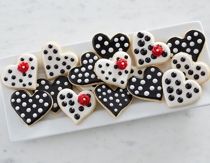 Valentine's Day Heart Cookies Dessert Ideas from Cake Mate